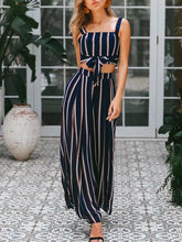 Load image into Gallery viewer, Striped Wide Leg Pants Suit