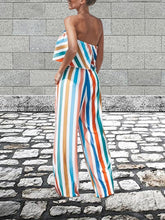 Load image into Gallery viewer, Casual Striped Strapless Jumpsuit
