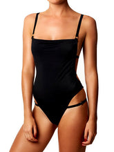 Load image into Gallery viewer, Black Strap One-Piece Swimsuit