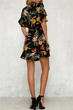 Load image into Gallery viewer, Floral V-Neck Ruffle Dress