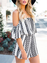 Load image into Gallery viewer, Casual Striped Off Shoulder Two Pieces