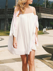Double Chiffon Strap Shoulder Strap Beach Dress