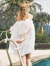 Load image into Gallery viewer, Double Chiffon Strap Shoulder Strap Beach Dress