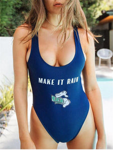 Cartoon Scoop Back Monokini