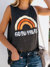 Load image into Gallery viewer, Rainbow Sleeveless Loose T Shirts