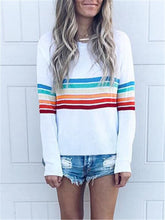 Load image into Gallery viewer, Rainbow Stripe Sweater