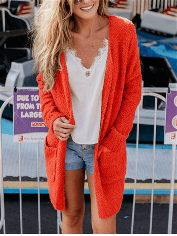 Long Furry Cardigan