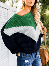 Load image into Gallery viewer, Colorblock Pullover Sweater