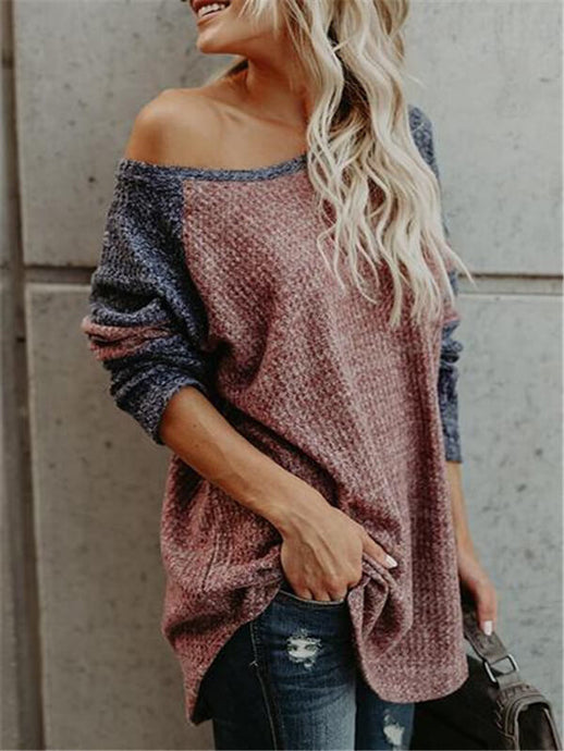 Two-Tone Pullover Sweater