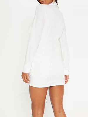 White Twisted Shirt Dress -- sold out