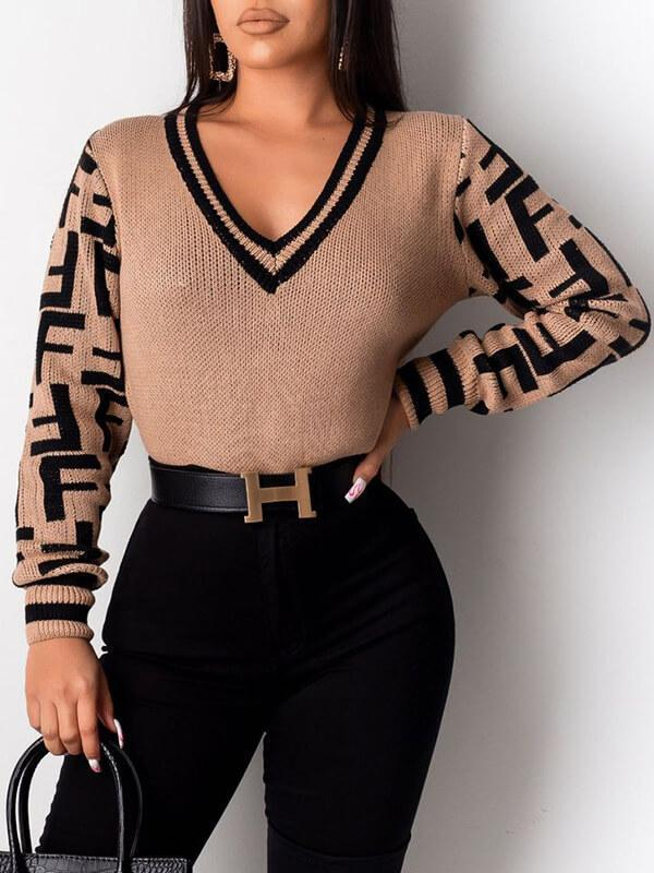 F-Inspo V-Neck Sweater