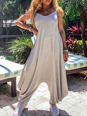 Gray Slouchy Cami Jumpsuit