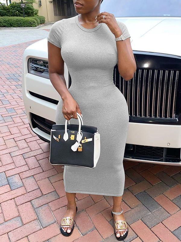 Solid Bodycon Tee Dress