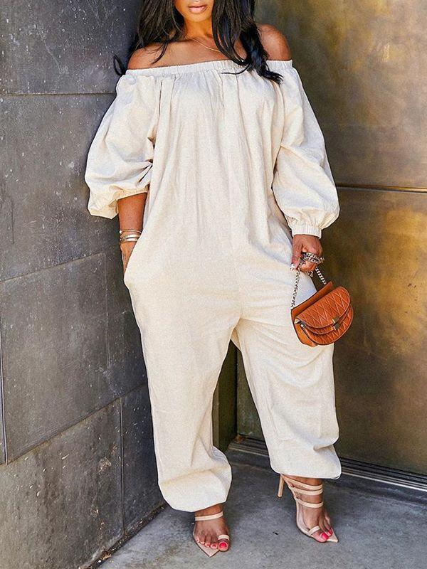 Off Shoulder Heram Jumpsuit
