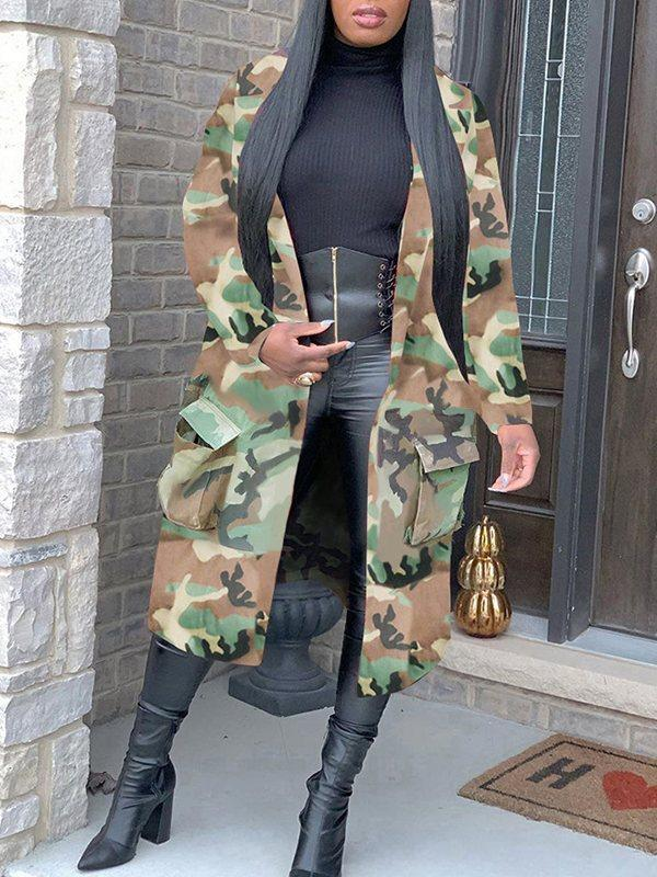Camo Trench Duster