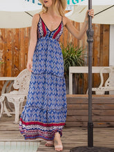 Load image into Gallery viewer, Print V-Neck Maxi Dress