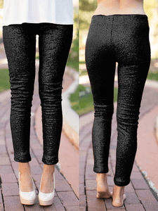 High-Waist Sequin Leggings