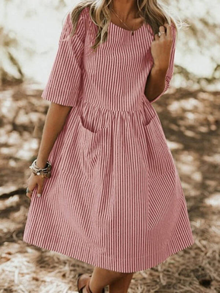 Stripe Pocket Dress