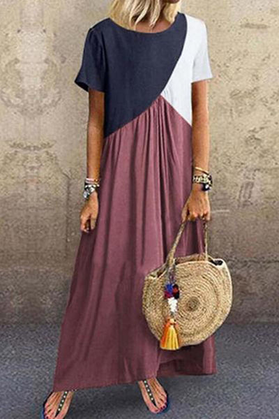 Three-Tone Maxi Dress
