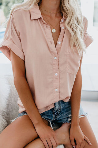 Solid Short-Sleeve Shirt