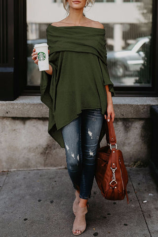 Asymmetric-Hem Off-Shoulder Top
