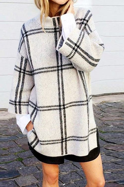 Checked Sweater Dress