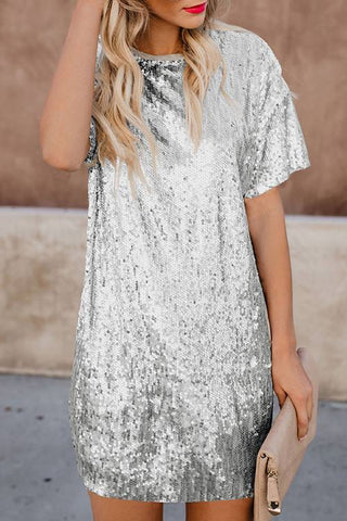 Sequin Combo Dress