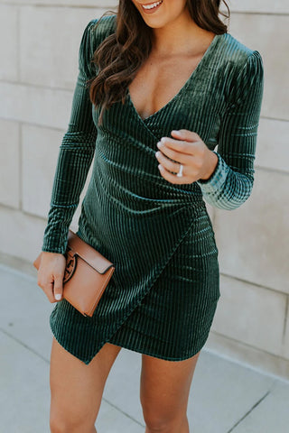 Velvet Wrapped Dress