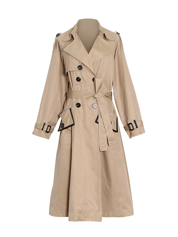 Double-Breasted Belted Trench