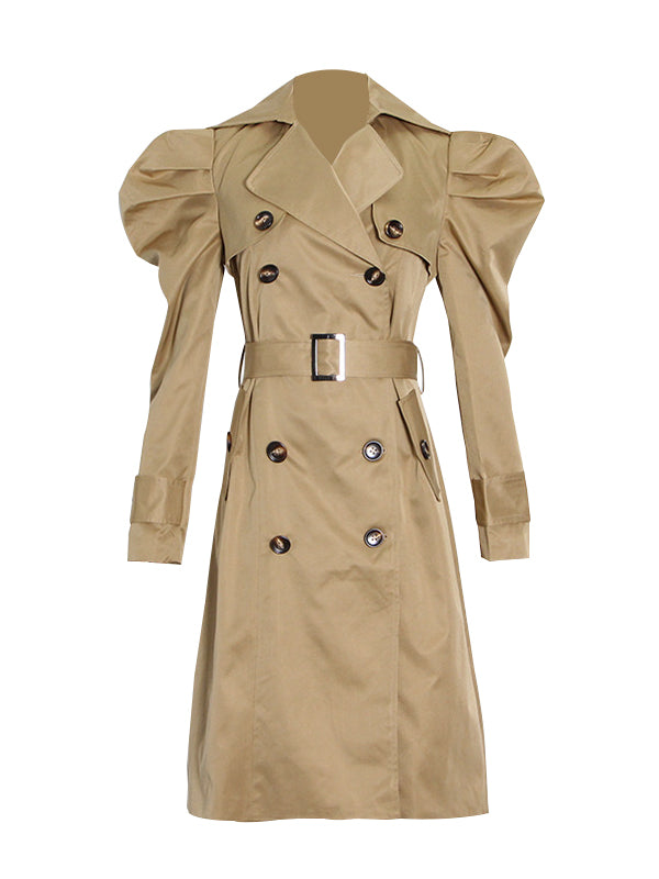 Puff-Sleeve Trench