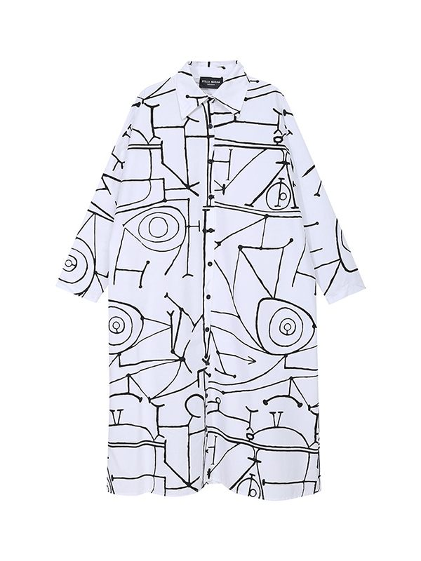 Graphic Shirt Dress