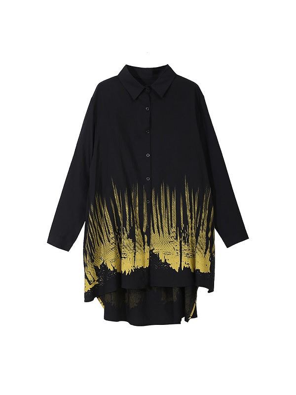Printed Pleated Shirt
