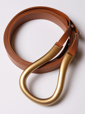 Clasp Faux-Leather Belt