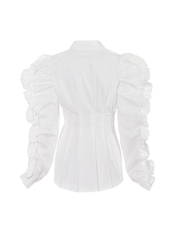 Frilled Sleeve Shirt