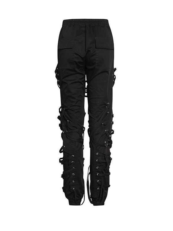 Drawstring Lace-up Pants