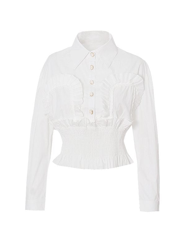 White Smocked Shirt