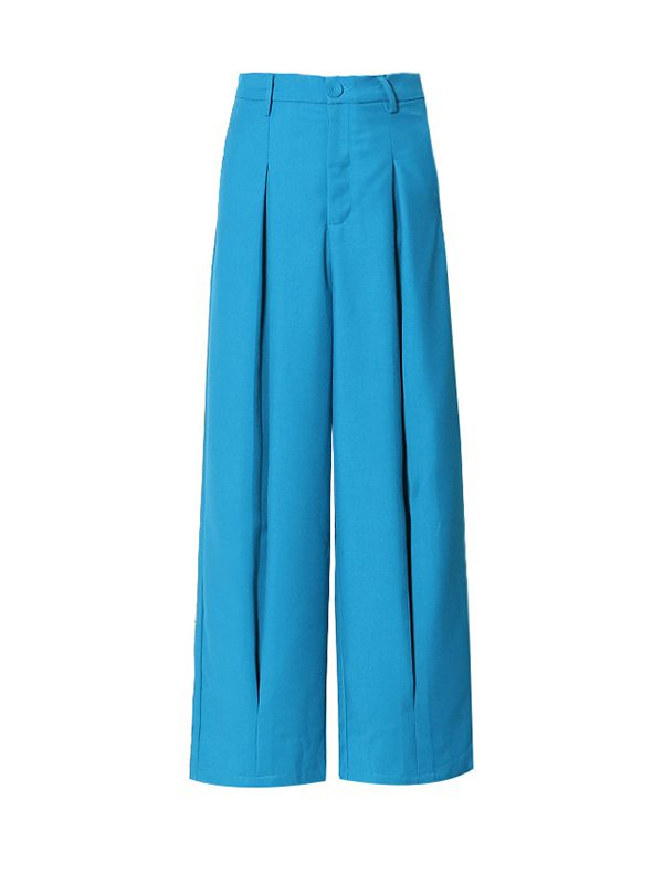 Blue Wide-Leg Pants