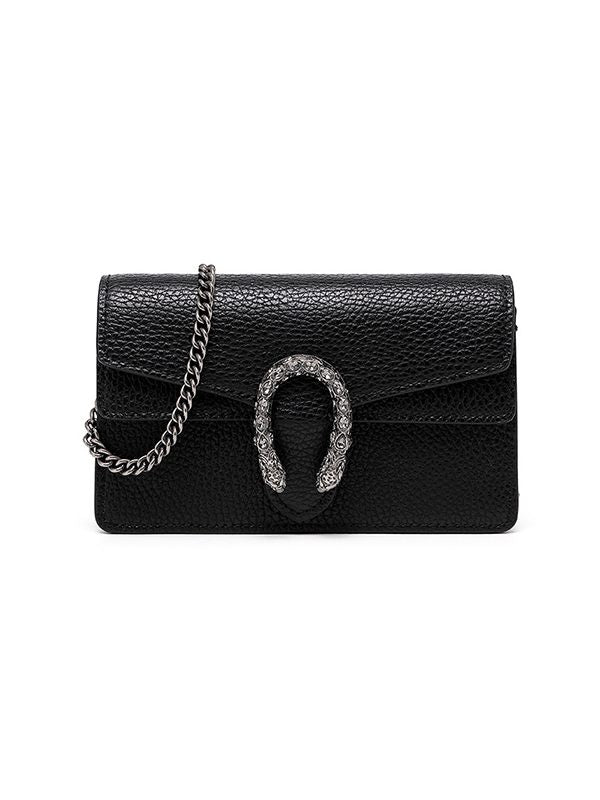 Snake-Logo Chain Bag