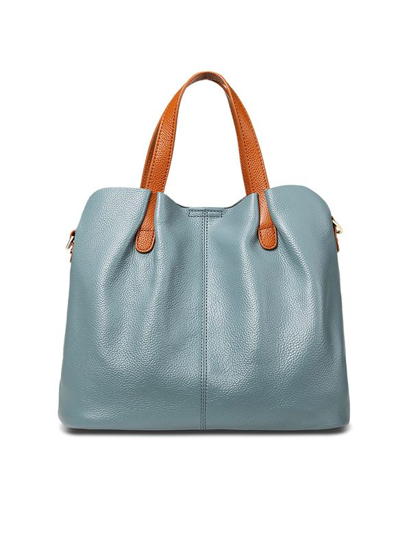 Leather Top-Handle Bag