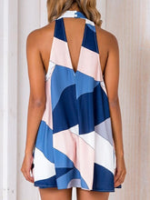 Load image into Gallery viewer, Dresses - Colorblock Halter Sheath Dress