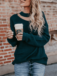 Cutout Knit Sweater