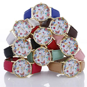 2017 Womens Quartz Watch Bracelet With Leather Strap Bracelets