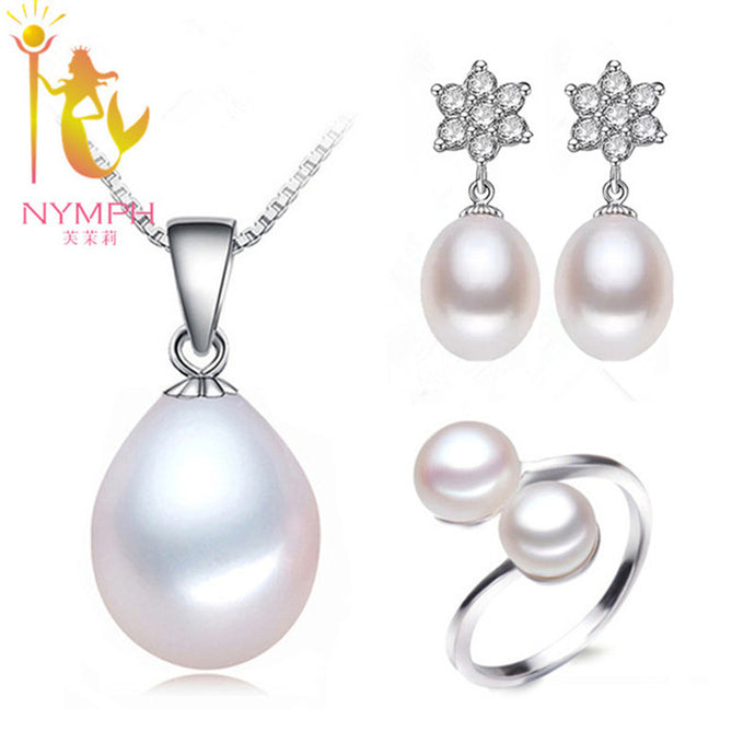 NYMPH Natural Freshwater Pearl Jewelry Set