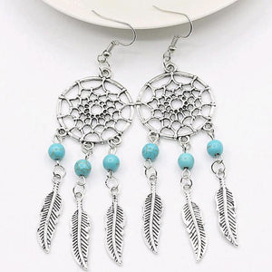Vintage Silver Plated Dream Catcher Earrings
