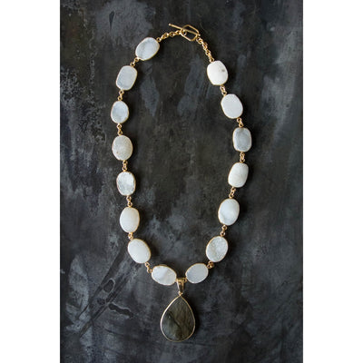 Regina Andrew Posy Agate and Labradorite Necklace