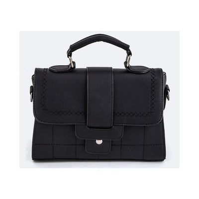 Black Stitched Handbag