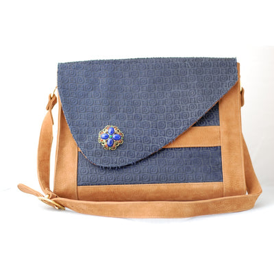 Porsche Messenger Bag- Navy Blue and Bronze