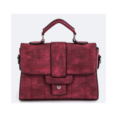 Red Stitched Handbag