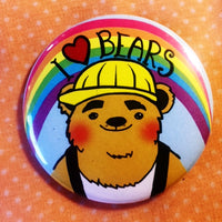 Super Rad Button: I Love Bears
