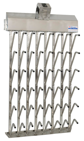 W24fg | Wall mount 24 pr top hung stainless steel boot dryer (48 boots)